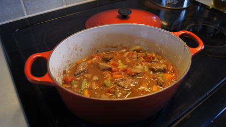Lamb Stew with Cinnamon, before simmering