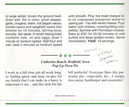 Pop-Up Pizza Pie Recipe