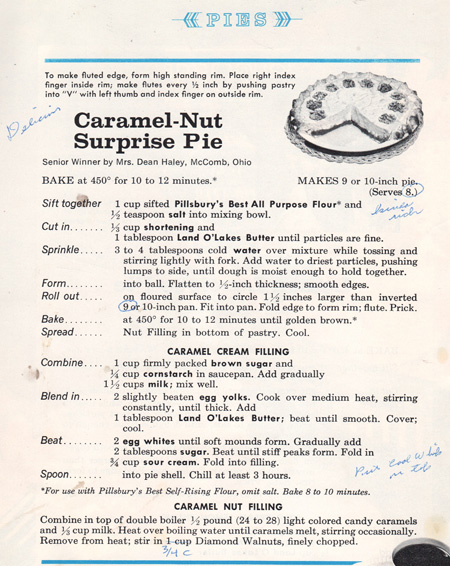 Caramel-Nut Surprise Pie