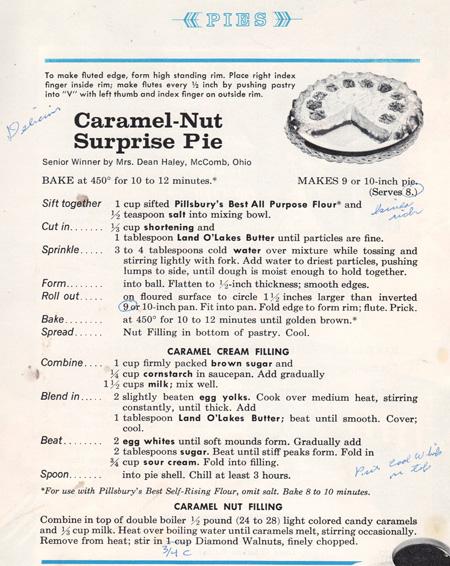 Caramel-Nut Surprise Pie