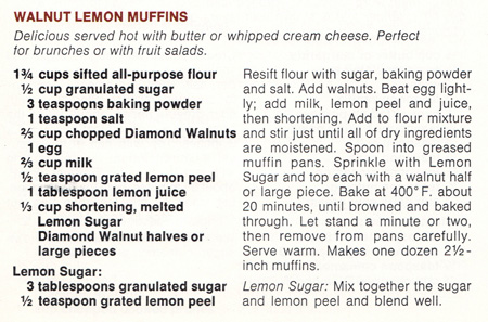 Walnut Lemon Muffins