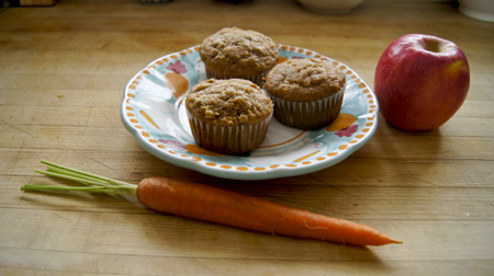 Applesauce Carrot Muffins