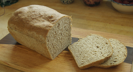 Rye Beer Bread sliced