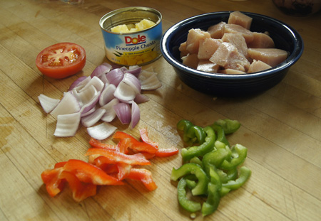 Sweet-and-Sour Chicken ingredients