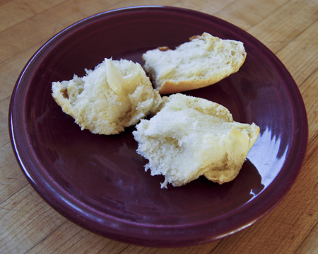 potato roll with butter