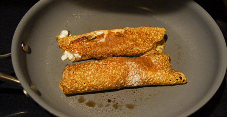 Cottage Cheese Crepes