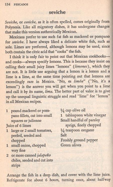 Seviche Recipe