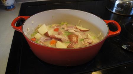 stew before simmering