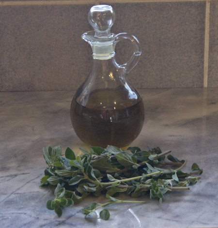 cruet and oregano