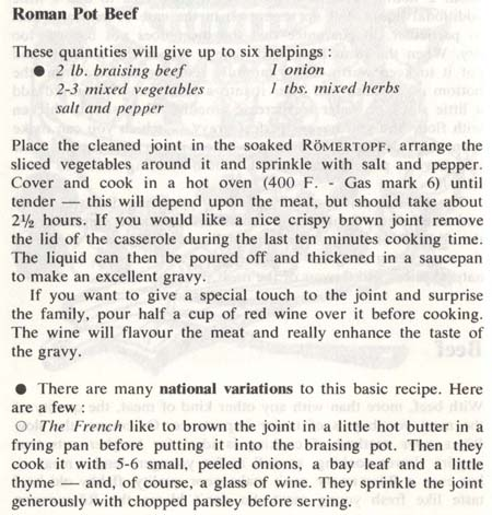 Roman Pot Beef