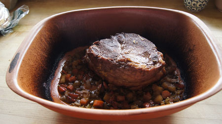 cooked beef pot