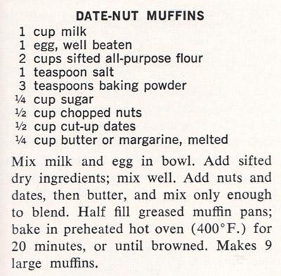 Date-Nut Muffins recipe