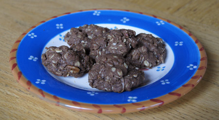 German Chocolate Oatmeal Cookies