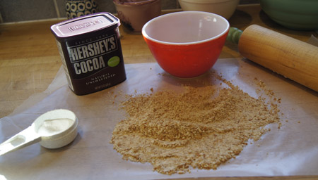 ingredients for the chocolate crust