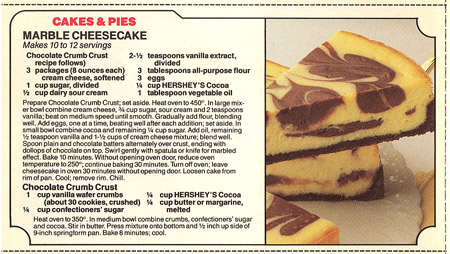 Marble Cheesecake Recipe