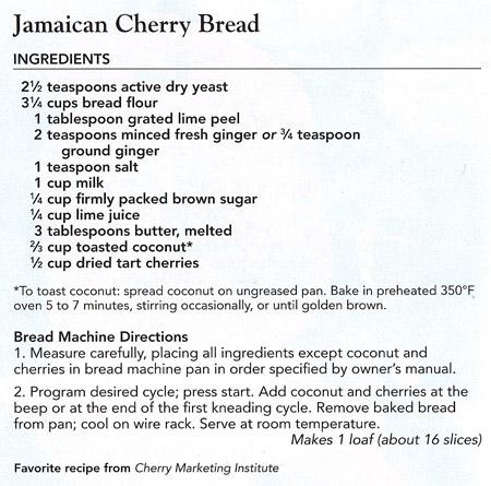 Jamaican Cherry Bread