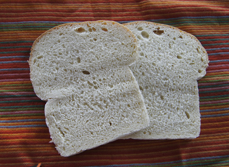 sourdough bread slices