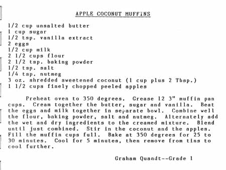Apple Coconut Muffins recipe