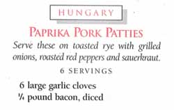 Paprika Pork Patties