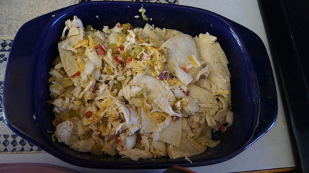 casserole before cooking