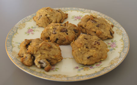 Apple Nut Chocolate Chip Cookies