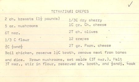 Tetrazzini Crepes recipe