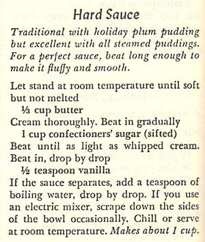Hard Sauce Recipe