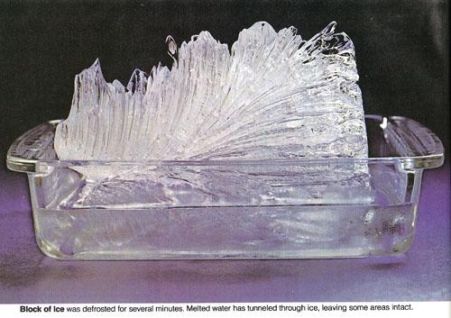 microwaved block of ice
