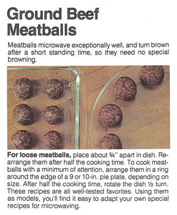 microwaving ground beef meatballs