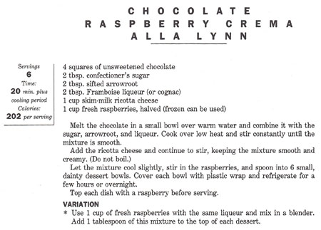 Chocolate Raspberry Crema recipe