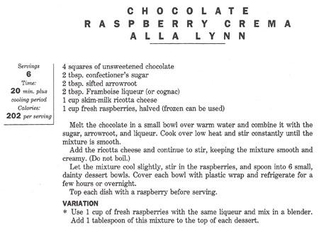 Chocolate Raspberry Crema recipe