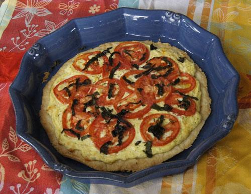 Fresh Tomato Cheese Tart