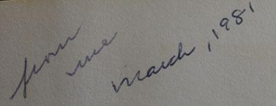 Mother's inscription