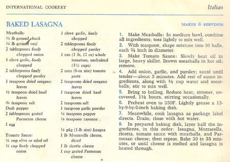 Baked Lasagne recipe