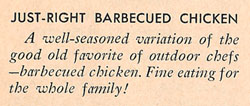 Just Right Barbecue Chicken