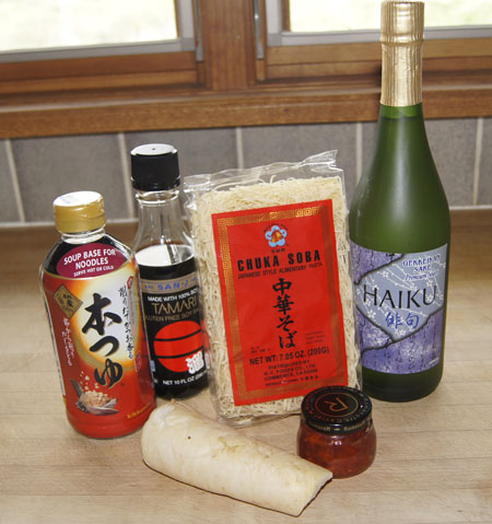 ingredients for a Japanese meal