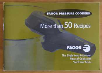 Fagor Pressure Cookers cookbook