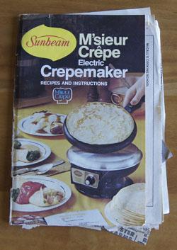 M'sieur Crepe Crepemaker cookbook
