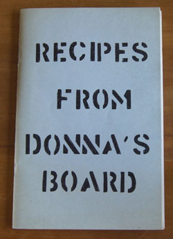 Recipes from Donna's Board cookbook