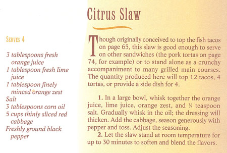 Citrus Slaw Recipe