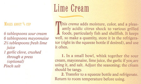 Lime Cream recipe