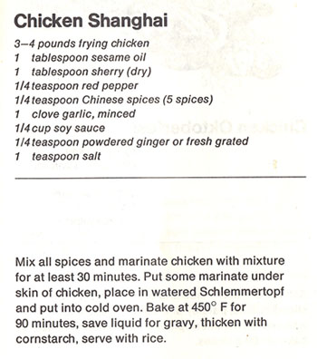Chicken Shanghai recipe