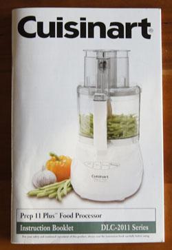 Cuisinart Prep 11 cookbook