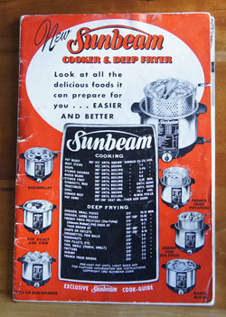 Sunbeam Cooker and Deep Fryer cookbook
