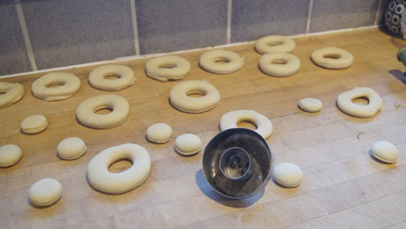formed doughnuts