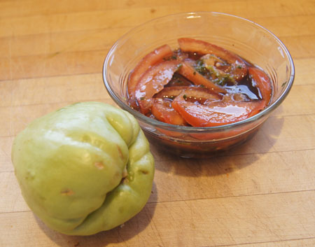 chayote and tomato vinaigrette