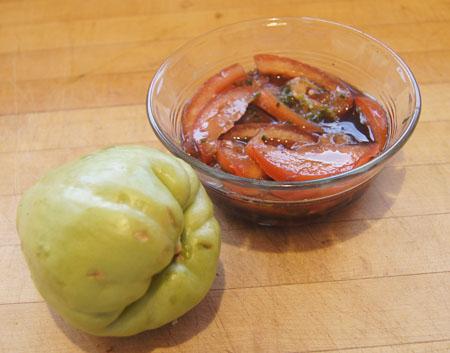 chayote and tomato vinaigrette