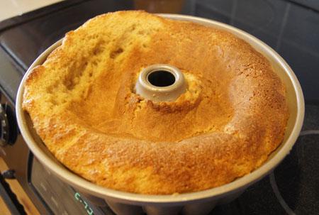 fallen sponge cake