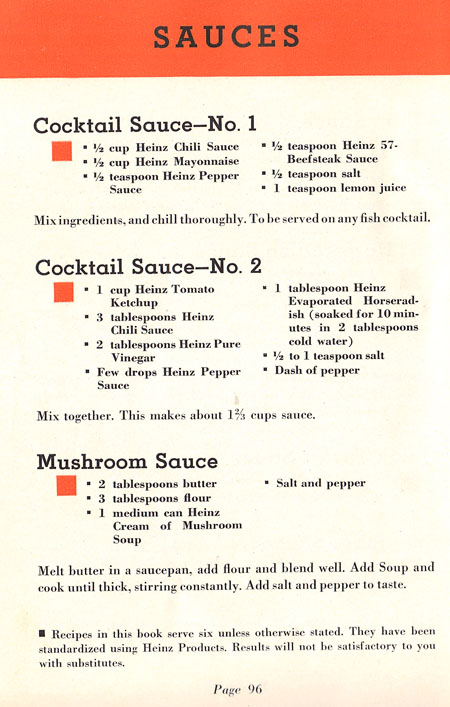 Heinz sauce recipes