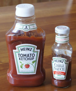 Heinz ketchup and chili sauce